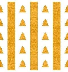 Festive seamless geometric gold textured pattern vector image