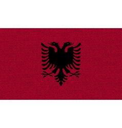 Flags albania on denim texture vector