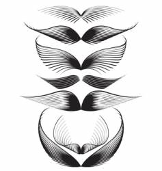 Graphic wings vector
