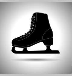 Ice skate silhouette black icon vector