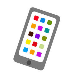 isolated tablet icon vector image