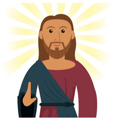 Jesus christ devotion spiritual image vector
