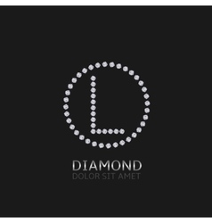 L letter with diamonds vector image vector image