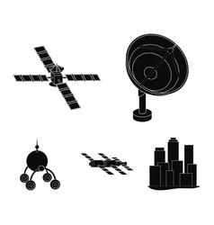 Radio radar docking in space spacecraft lunokhod vector