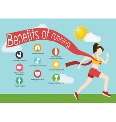 Run infographics Minimal cool vector image