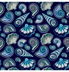 Sea seamless pattern Original hand drawn vector image vector image