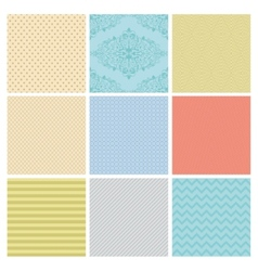 Seamless Subtle geometric background set vector image vector image