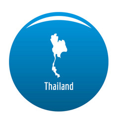 thailand map in black simple vector image vector image