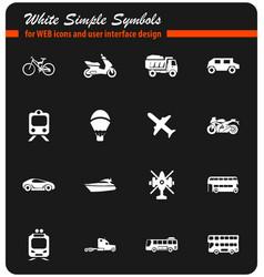Transport types icon set vector