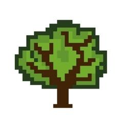 tree pixel figure vector image