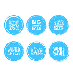 Winter sale grunge circle element for your design vector