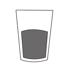 Cup of glass with liquid icon vector