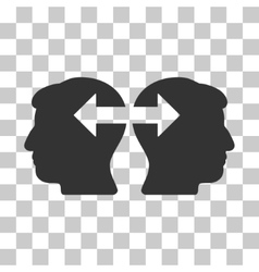 Heads Exchange Arrows Icon vector image