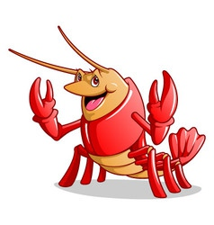Happy lobster vector