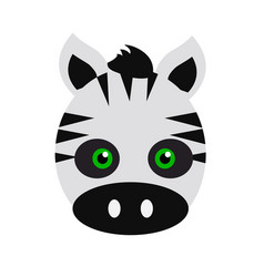 Zebra carnival mask striped black white animal vector