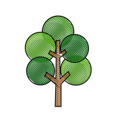 Drawing tree round branch stem trunk image vector