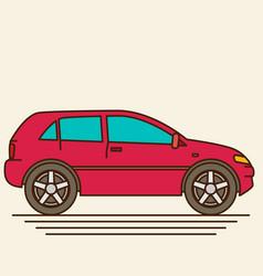 Isolated car flat design style vector