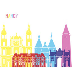 Nancy skyline pop vector