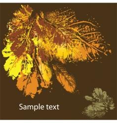 leaf card  vector image