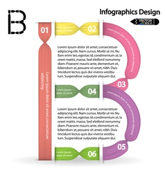 Colorful infographics options banner vector