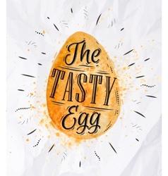 Egg watercolor vector