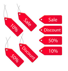 3d discount labels set vector