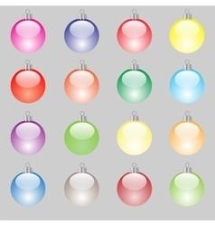 Set of Colorful Christmas Balls vector image
