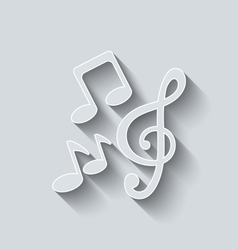 Stylish music icons with long shadows vector