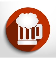 Beer mug web icon vector