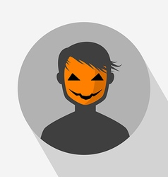 Halloween avatar icon vector