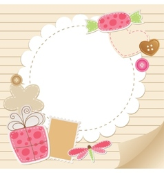 Cute vintage greeting card vector