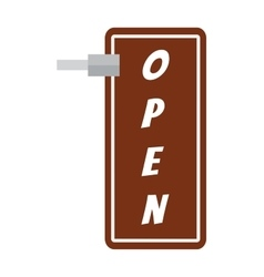 Open sign vector