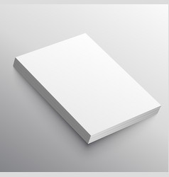 A4 paper stack mockup in 3d style vector