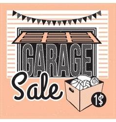 Antique market vector image