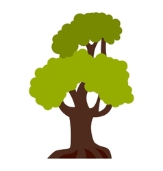Big tree icon flat style vector