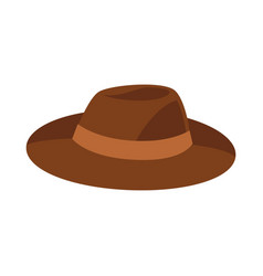 Brown hat isolated on white vector