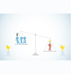 businessman with idea vs businessmen without idea vector image