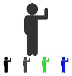Child vote flat icon vector