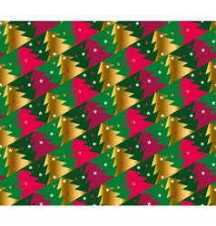 Christmas tree seamless geometry pattern in bright vector