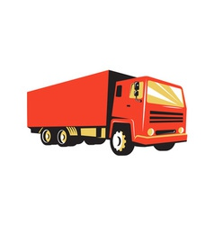 closed delivery van truck retro vector image