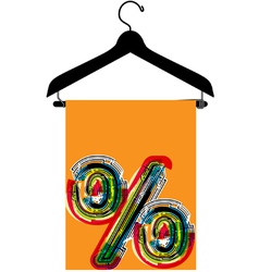 clothes hanger vector image vector image
