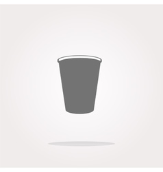 Coffee cup icon web button vector image