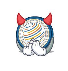 Devil factom coin mascot cartoon vector
