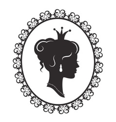 elegant princess in the frame vector image vector image