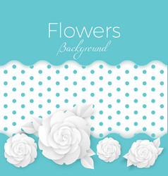 flowers background with dotted center paper vector image vector image