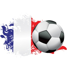 France Soccer Grunge vector image vector image