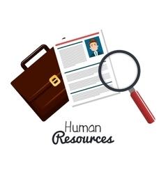 human resourses search cv portfolio graphic vector image