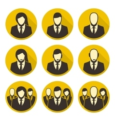 Icons staff vector