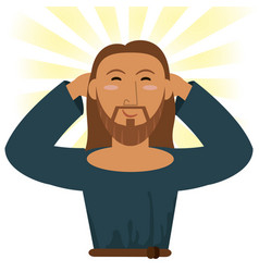 Jesus christ happy religious image vector