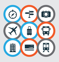 journey icons set collection of camera vector image